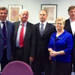 BAE Board von links: Reginald Vossen (Belgien), Philippe Gluntz (Frankreich), Luigi Amati (Italien), Ute Günther (BAND), René Reijtenbagh (Niederlande)