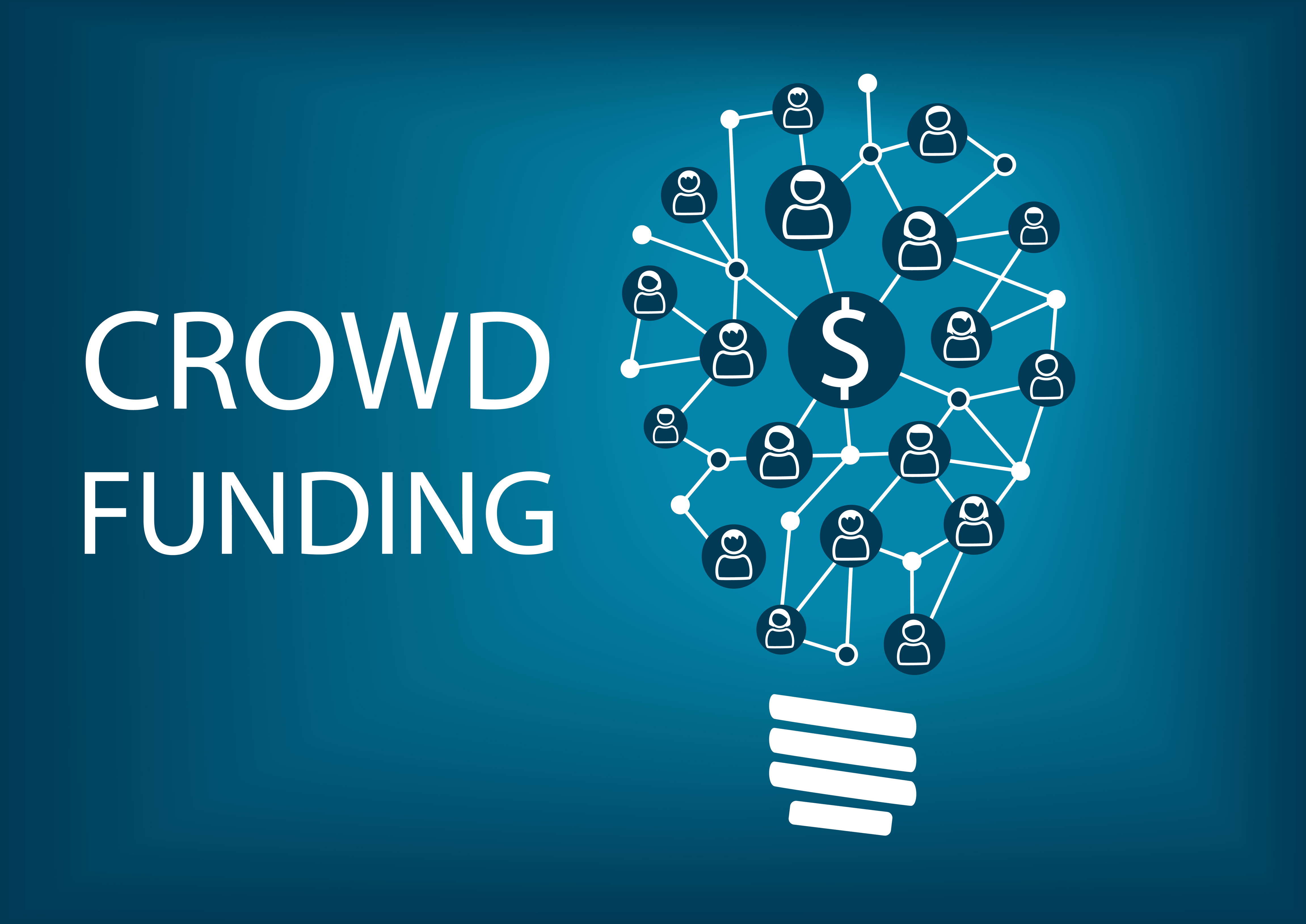Crowd funding concept. Vector illustration background