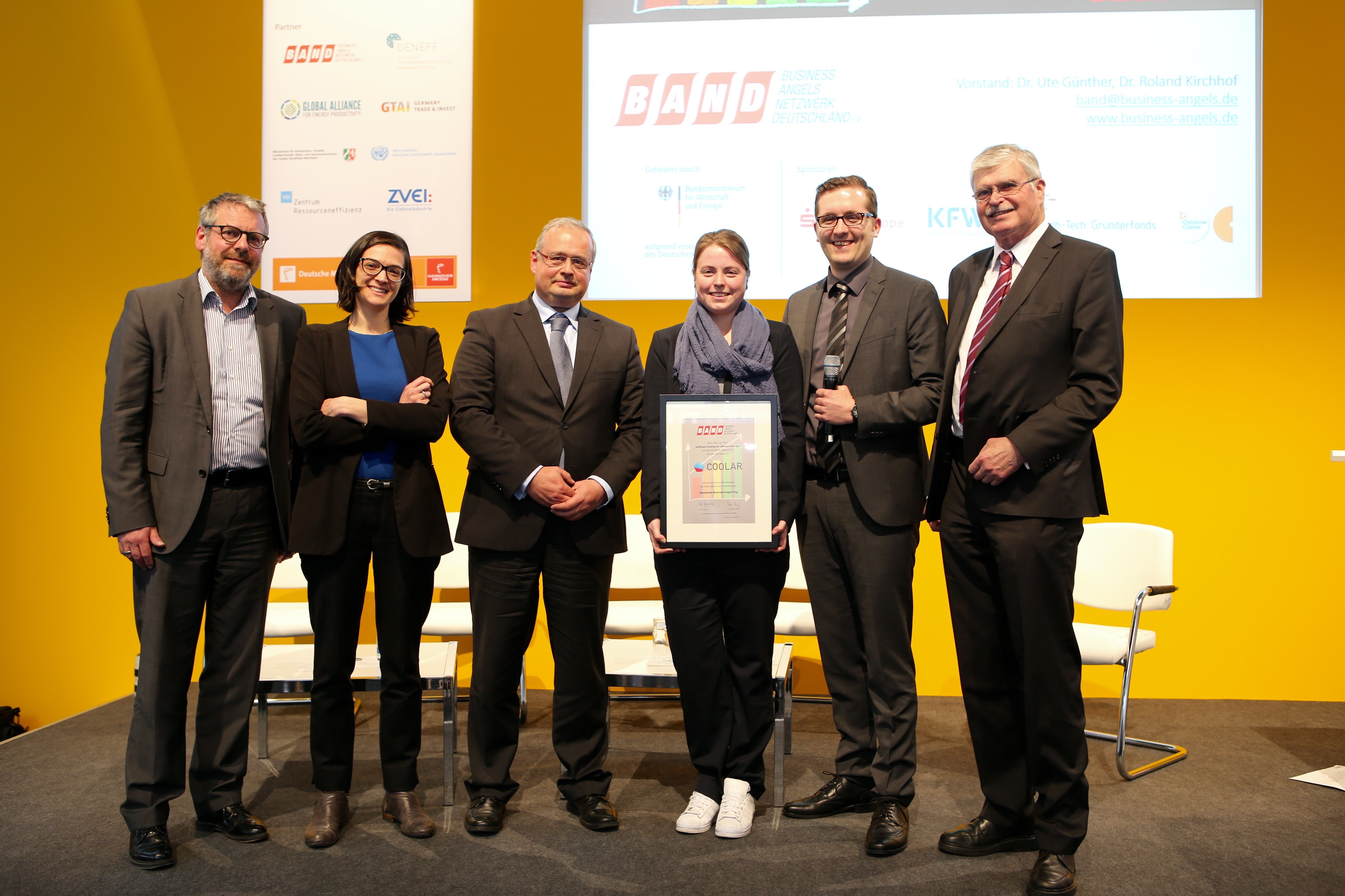 COOLAR gewinnt ein Freiticket zum Deutschen Business Angels Tag