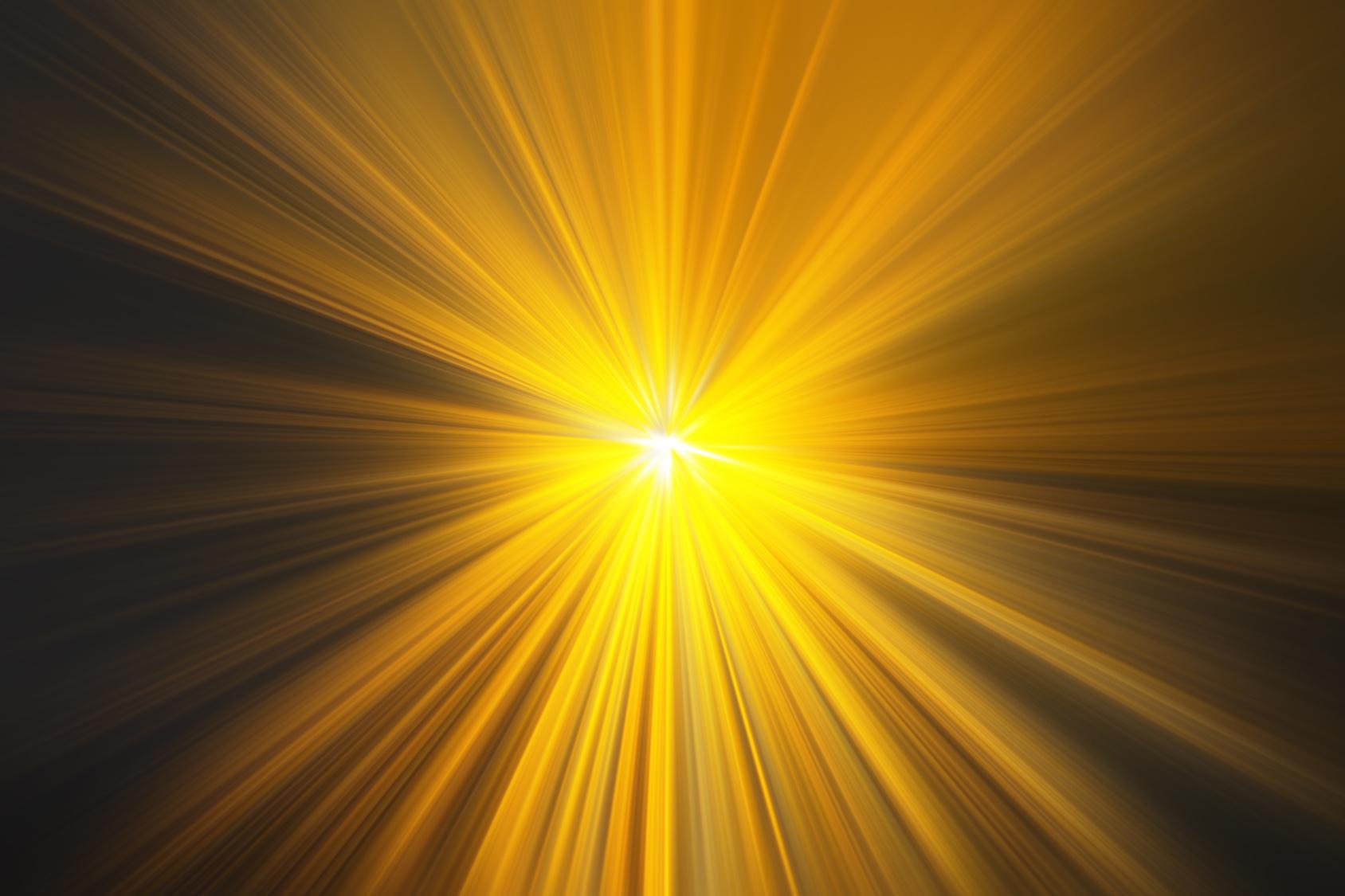 Esplosione di luce gialla